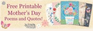 Free Printable Mother's Day Poems