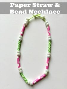 Kids Paper Straw Craft: Make A Paper Beads Necklace