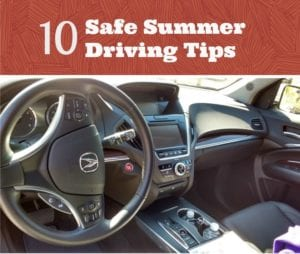 10 Safe Summer Driving Tips For Families