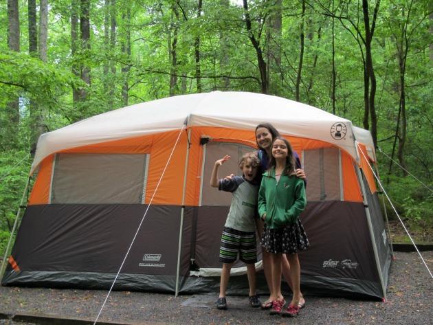 family vacation camping