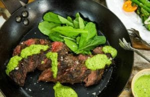 Hanger Steak Recipe With Moroccan Harissa Sauce