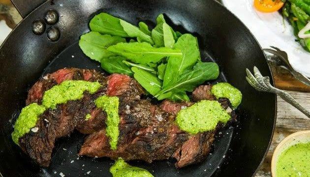 Hanger Steak Recipe With Moroccan Harissa Sauce