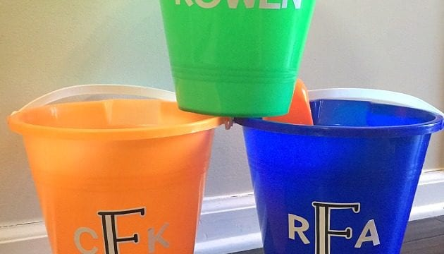 How To Make A Personalized Beach Bucket