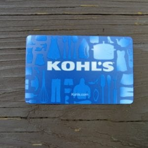 Koh's gift card giveaway