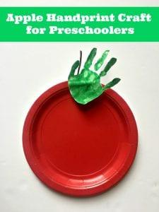 Apple Handprint Craft for Preschoolers