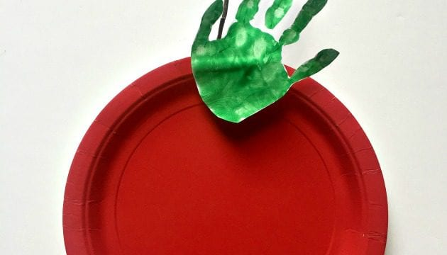 Apple Handprint Craft for Preschoolers