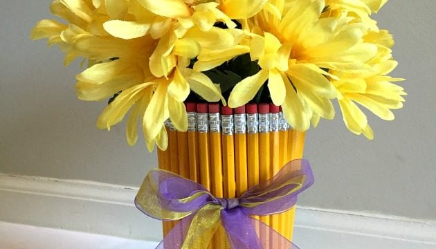 DIY Back To School Pencil Vase