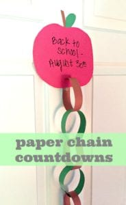 How To Make A Paper Chain Countdown For Back To School