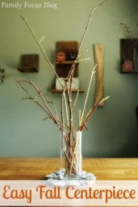 Easy Fall Centerpiece Craft Tutorial