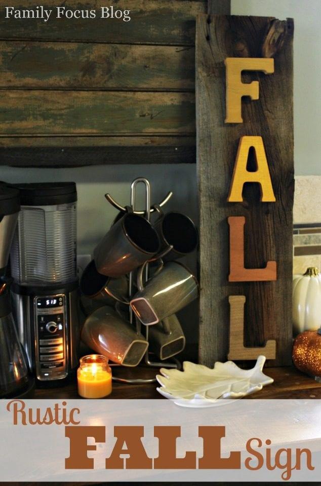 DIY Rustic Decor Fall Sign