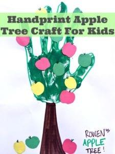 Handprint Apple Tree Craft For Children