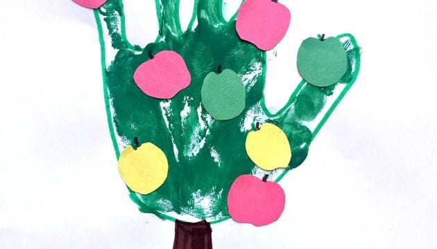 Handprint Apple Tree Craft For Children