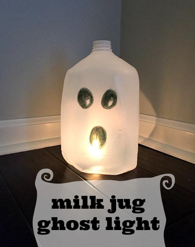 Halloween Milk Jug Luminaries