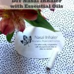 DIY Nasal Inhaler With Essential Oils