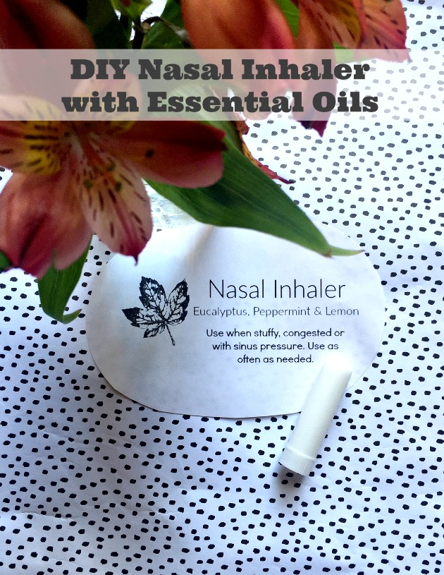 diy nasal inhaler essential oils