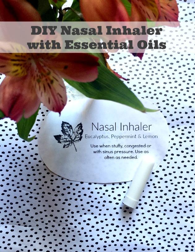 diy nasal inhaler essential oils