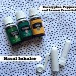 DIY Nasal Inhaler With Essential Oils