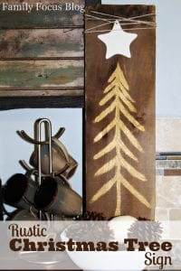 DIY Rustic Christmas Tree Decor