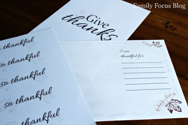 Thanksgiving Place Setting Printables