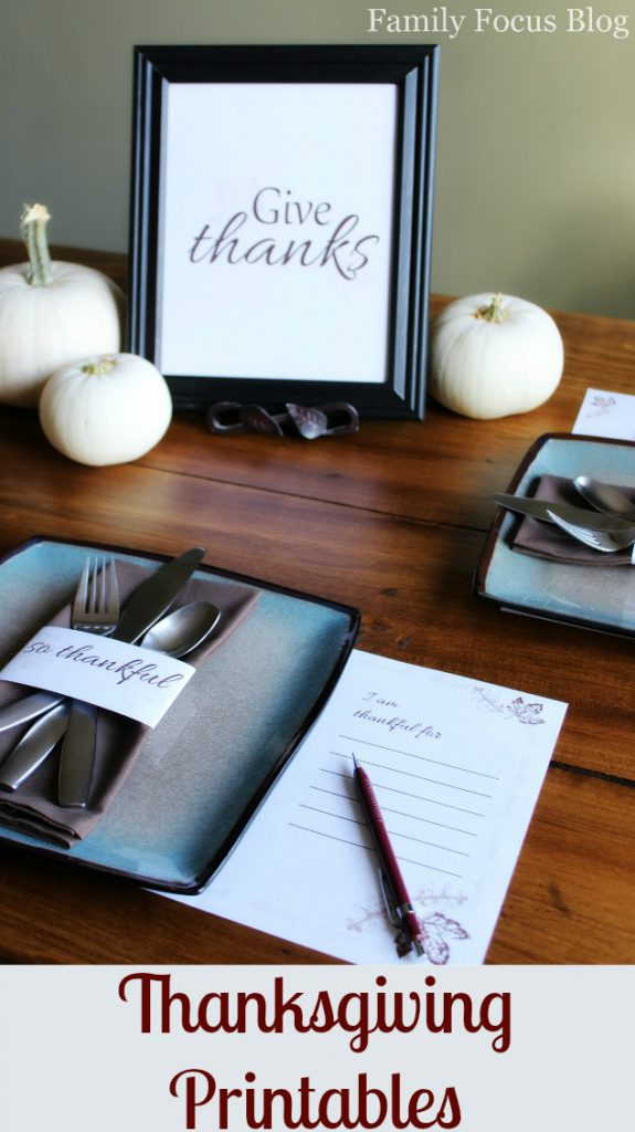 Free Printable Thanksgiving Place Cards Free Printable