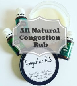 Homemade Chest and Sinus Congestion Relief Rub
