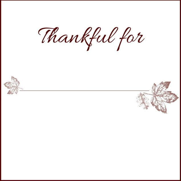thanksgiving printables - Thanksgiving Place Cards