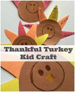 Thankful Turkey Craft For Kids