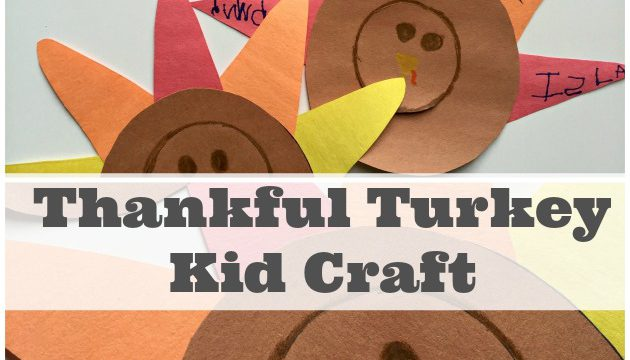 Thankful Turkey Craft For Kids
