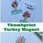 How To Make A Thumbprint Turkey Magnet