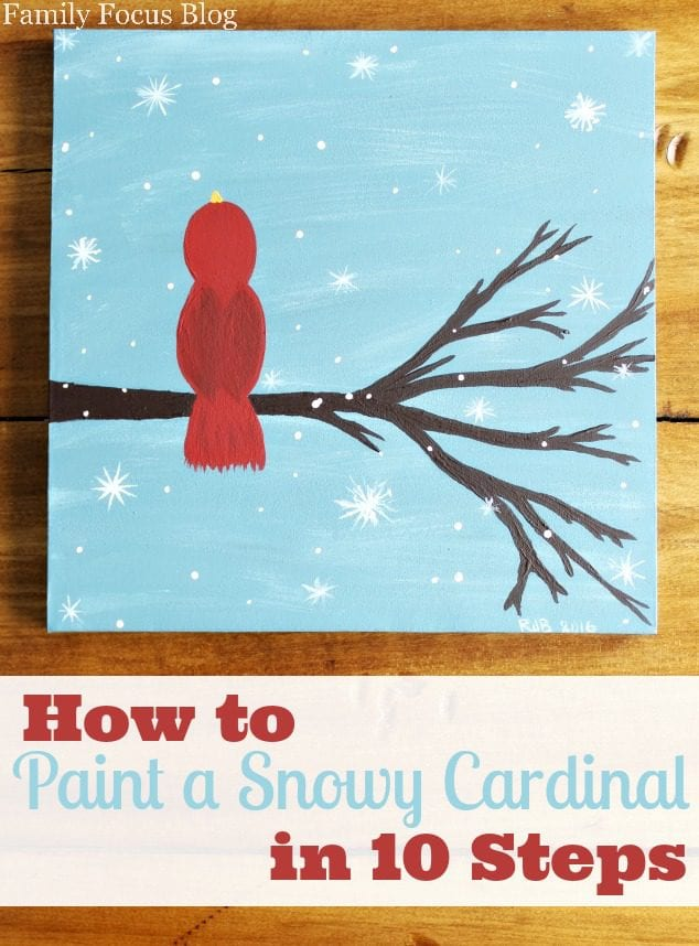 How to Paint a Cardinal in 10 Steps