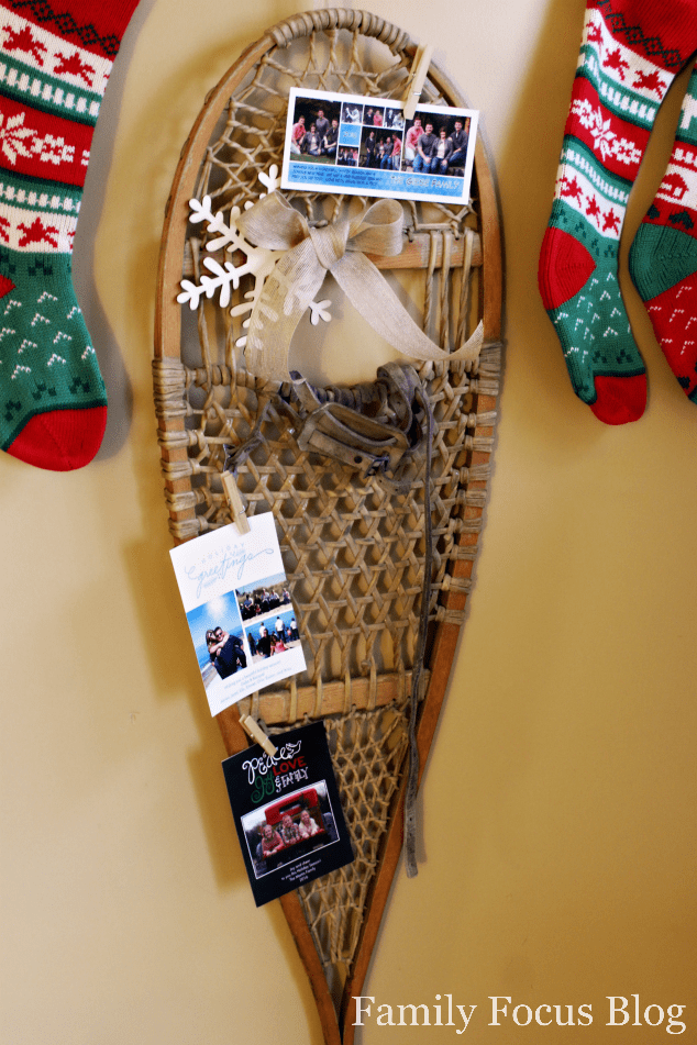 Snowshoe Christmas Card Holder