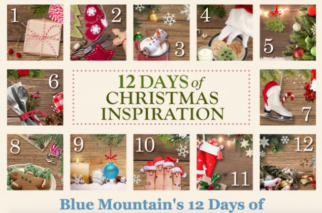 blue mountains 12 days of christmas inspiration