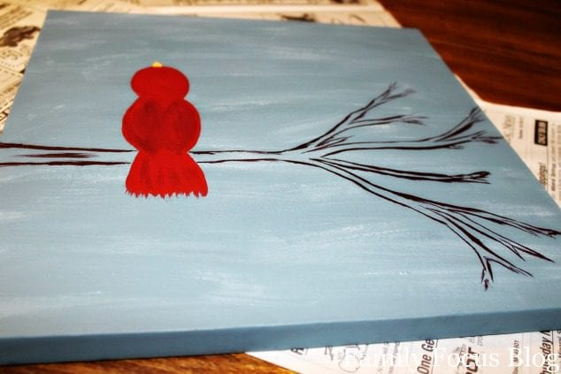 How to Paint a Snowy Cardinal in 10 Steps
