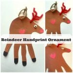 How To Make A Reindeer Handprint Ornament