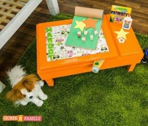 DIY Kids Art Desk With Storage