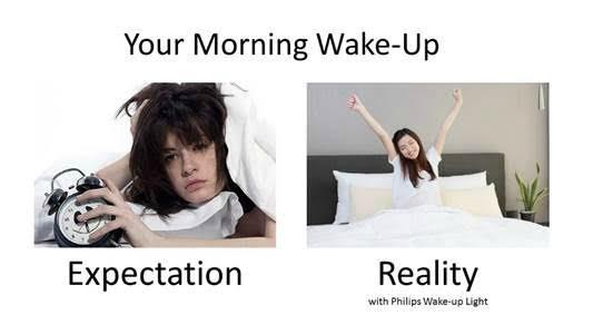 wake up expectations