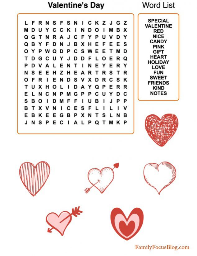 10 adorable valentines day free printables family focus blog free printable valentine word search ibookread Read Online