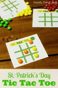 St. Patrick's Day Tic Tac Toe Game and Free Printable
