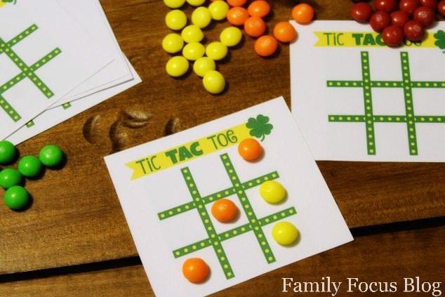 St. Patrick's Day Tic Tac Toe Board Printable