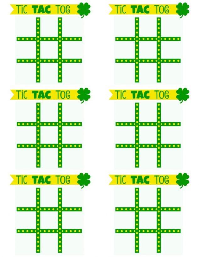 Free Printable St Patricks Day Tic Tac Toe Game  Family Focus Blog