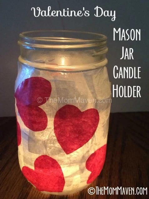 TheMomMaven valentine day jar candle holder