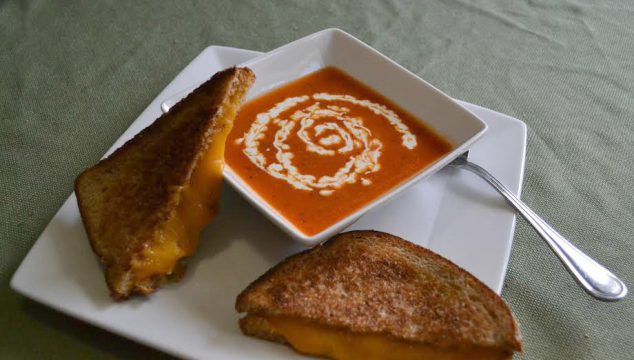 Basil Tomato Soup Recipe With Grilled Cheese