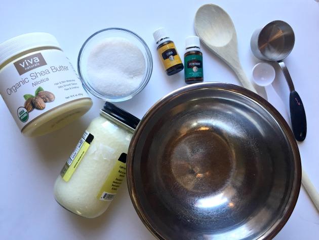 make homemade hand scrub