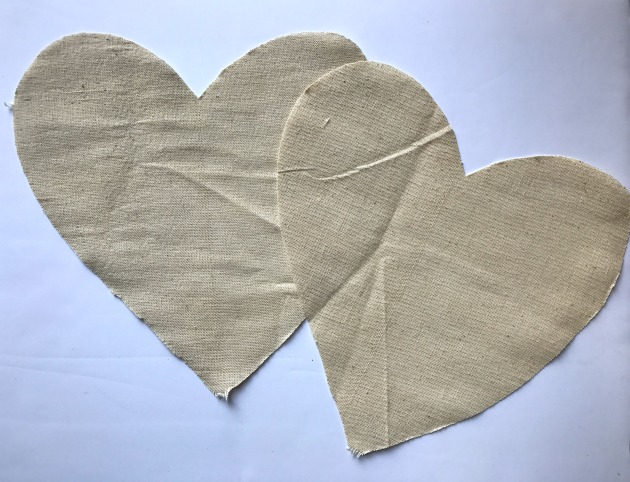 no sew fabric heart decorations