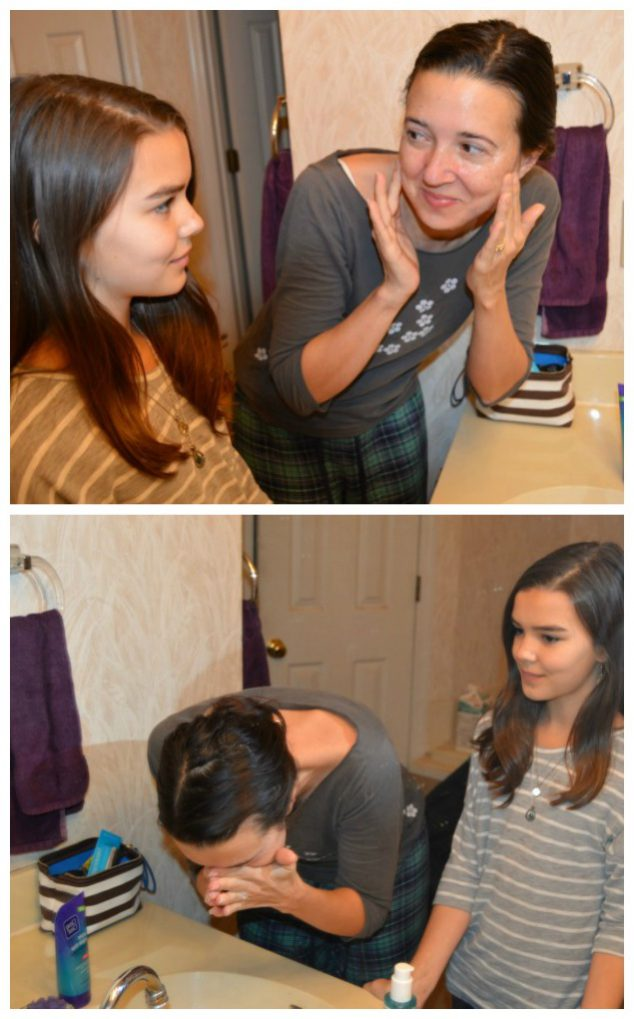 teaching facial care