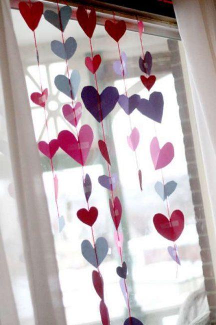 Heart Garland for Valentine's Day