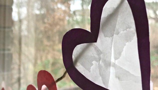How To Make A Heart Suncatcher Craft Banner