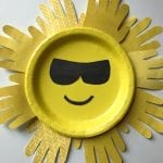 Sun Handprint Paper Plate Craft For Kids