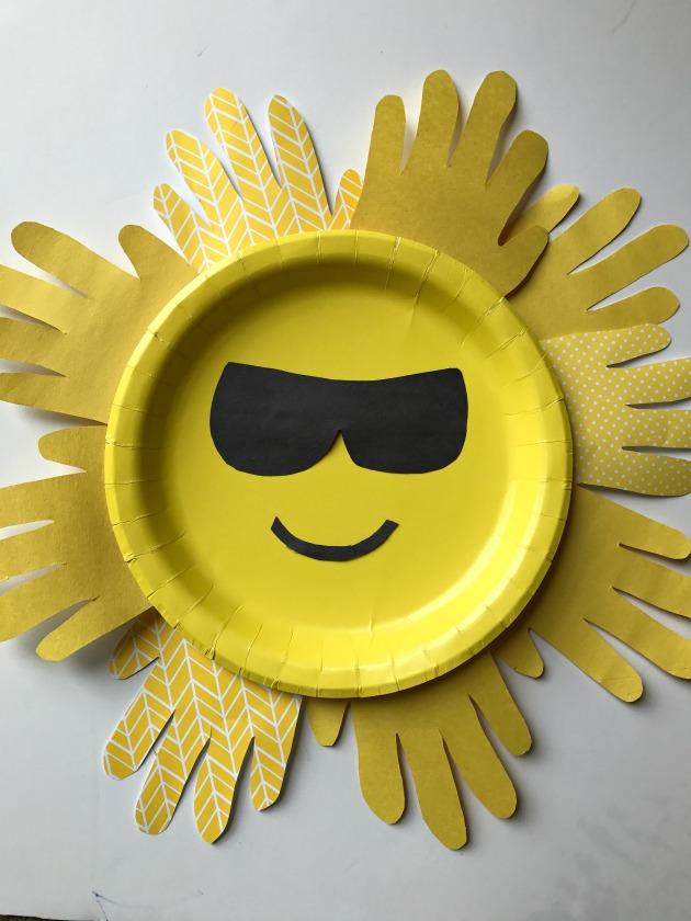 Sun Handprint Paper Plate Craft For Kids Family Focus Blog
