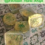 St. Patrick's Day DIY Gifts- Lucky Lime Leprechaun Soap
